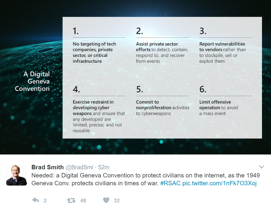 Microsoft's Call for a Digital Geneva Convention is Relevant to Bitcoin