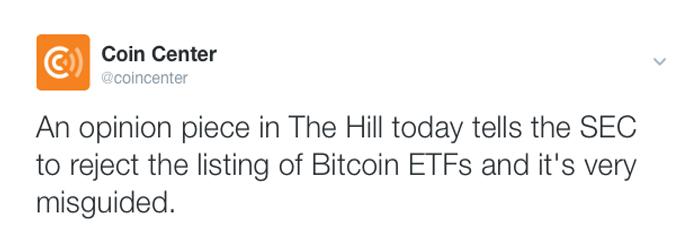 Mainstream Media Columnist Says SEC Should Reject Bitcoin ETF